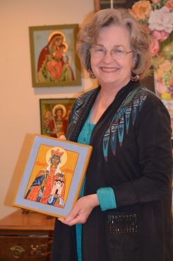 Annalee with her Icon of St Ludmila